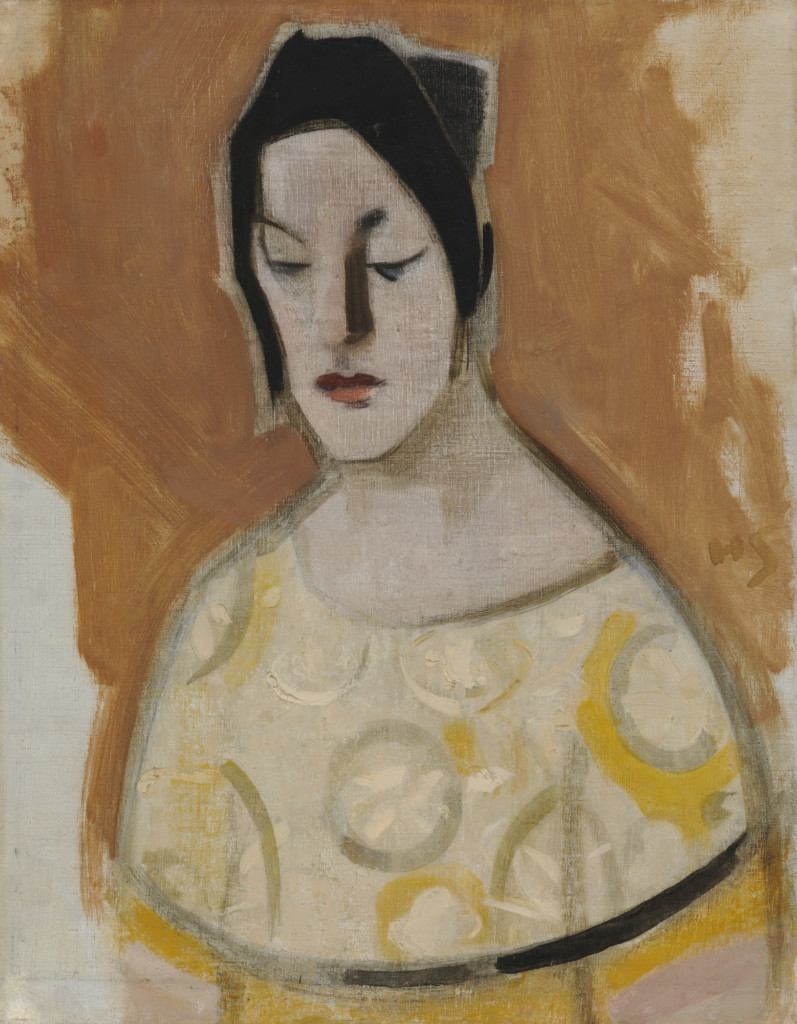 Helene Schjerfbeck: Sierskan (Dam i gul klänning) (1926)
