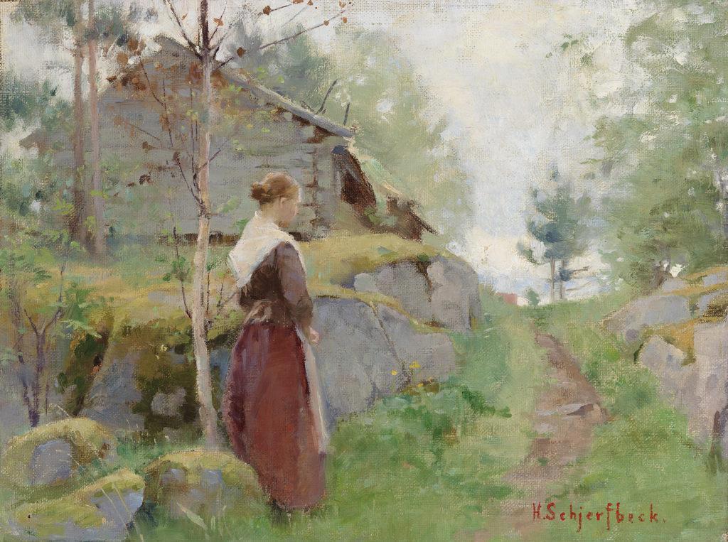 Helene Schjerfbeck: Tyttö Barösundista (1885–1890)