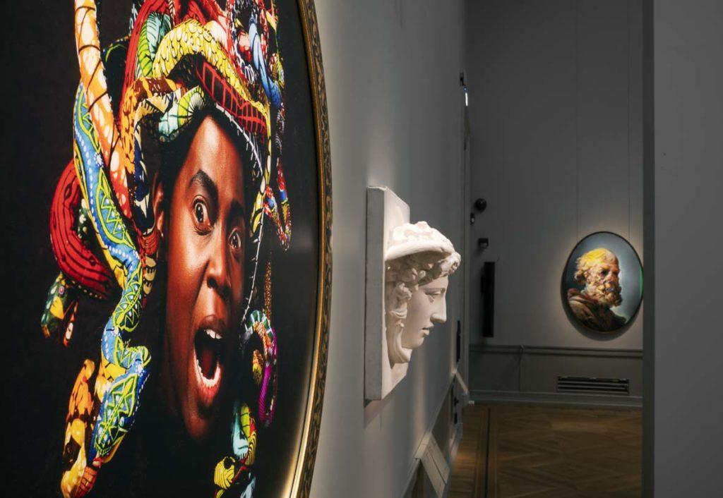 Kuva Inspiraatio -näyttelystä Tukholman Nationalmuseumissa..