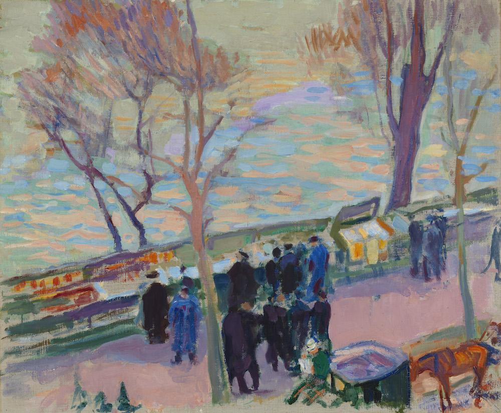 Magnus Enckell: Strand vid Seine (1912). Finlands Nationalgalleri / Konstmuseet Ateneum. Foto: Finlands Nationalgalleri / Hannu Pakarinen.