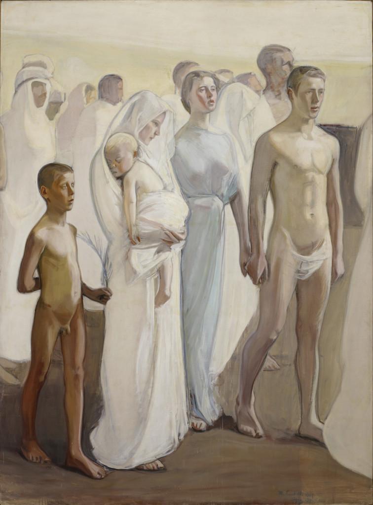 Magnus Enckell, Uppståndelsen, skiss till altartavlan i Tammerfors domkyrka (1906).