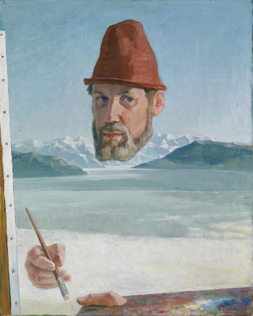 Åke Hellman: Maalari (Omakuva arktista taustaa vasten) (1970). Kansallisgalleria / Ateneumin taidemuseo. Kuva: Kansallisgalleria / Hannu Aaltonen.
