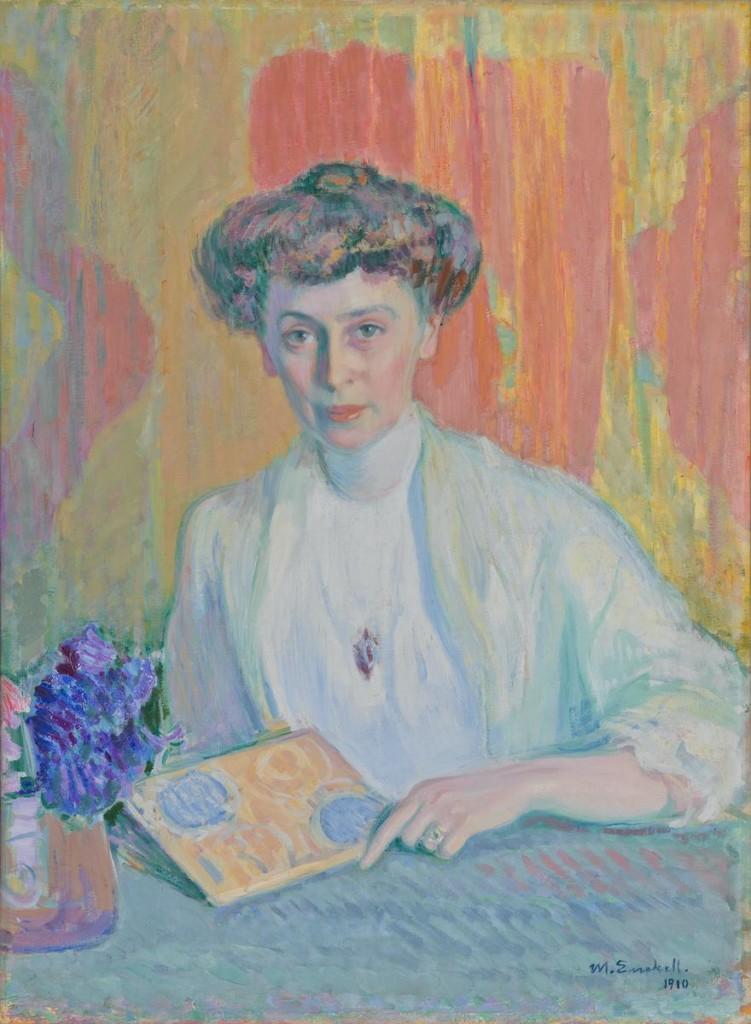 Magnus Enckell: Tyra Hasselblattin muotokuva (1910)