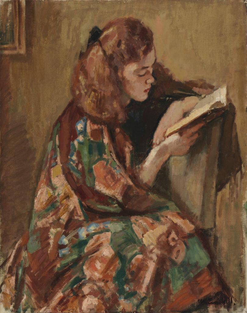 Magnus Enckell: Girl Reading (1921–1922).