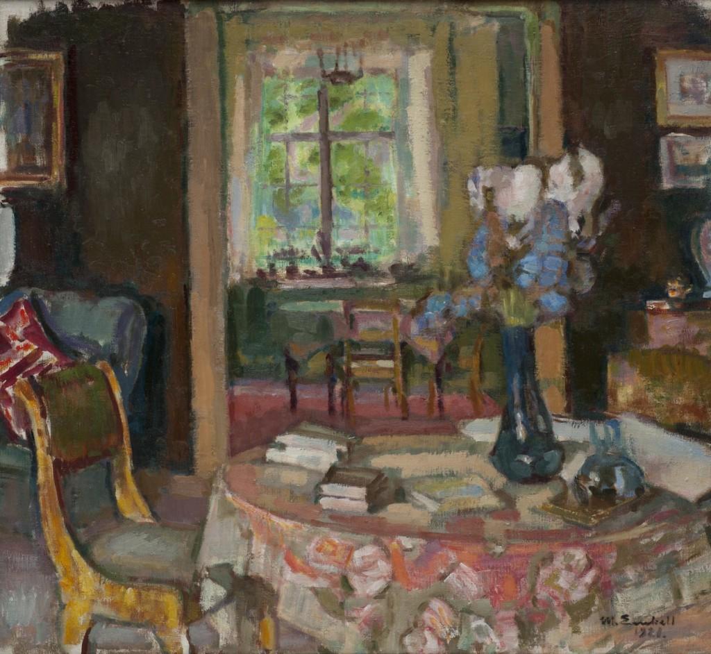 Magnus Enckell: Taiteilijan työhuone Kilossa (1920). Kokoelma Sigurd Frosterus, Amos Rex, Helsinki. Kuva: Amos Rex, Stella Ojala.