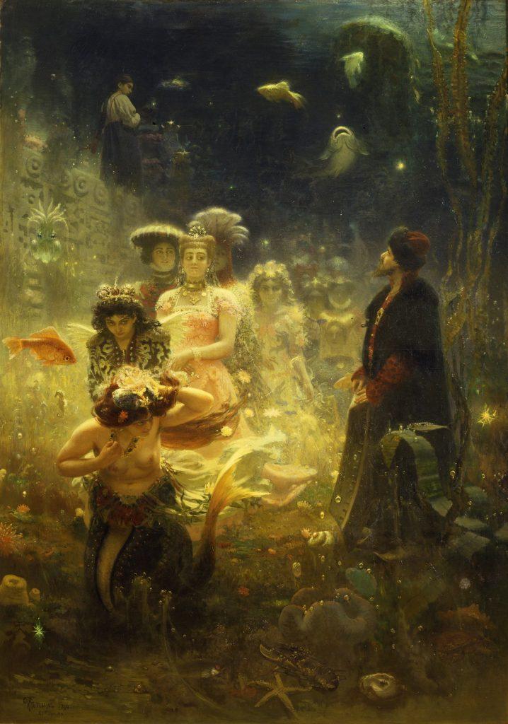 Ilja Repin: Sadko i havskungens rike (1876)