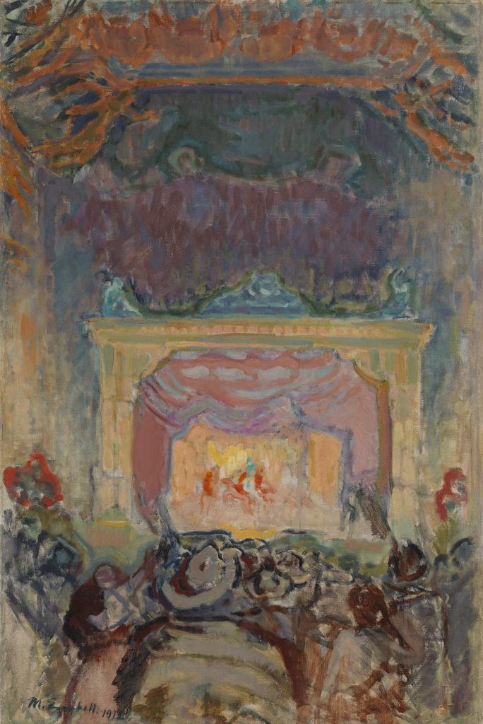 Magnus Enckell: Varieteeteatteri Pariisissa (1912). Kansallisgalleria / Ateneumin taidemuseo. Kuva: Kansallisgalleria / Hannu Pakarinen.