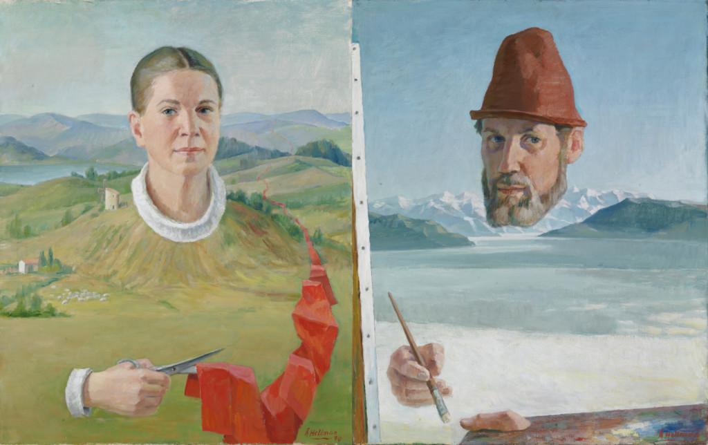 teoskuva: yhteismuotokuva Karin ja Åke Hellman