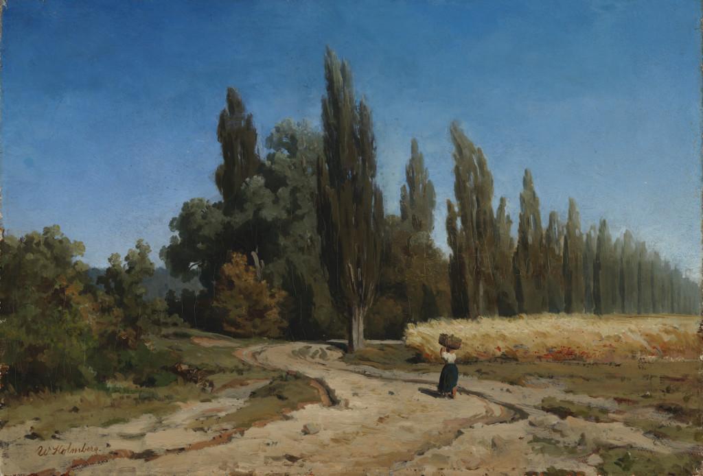 Werner Holmberg: Poppelikuja (1852). Kansallisgalleria / Ateneumin taidemuseo. Kuva: Kansallisgalleria / Jenni Nurminen.