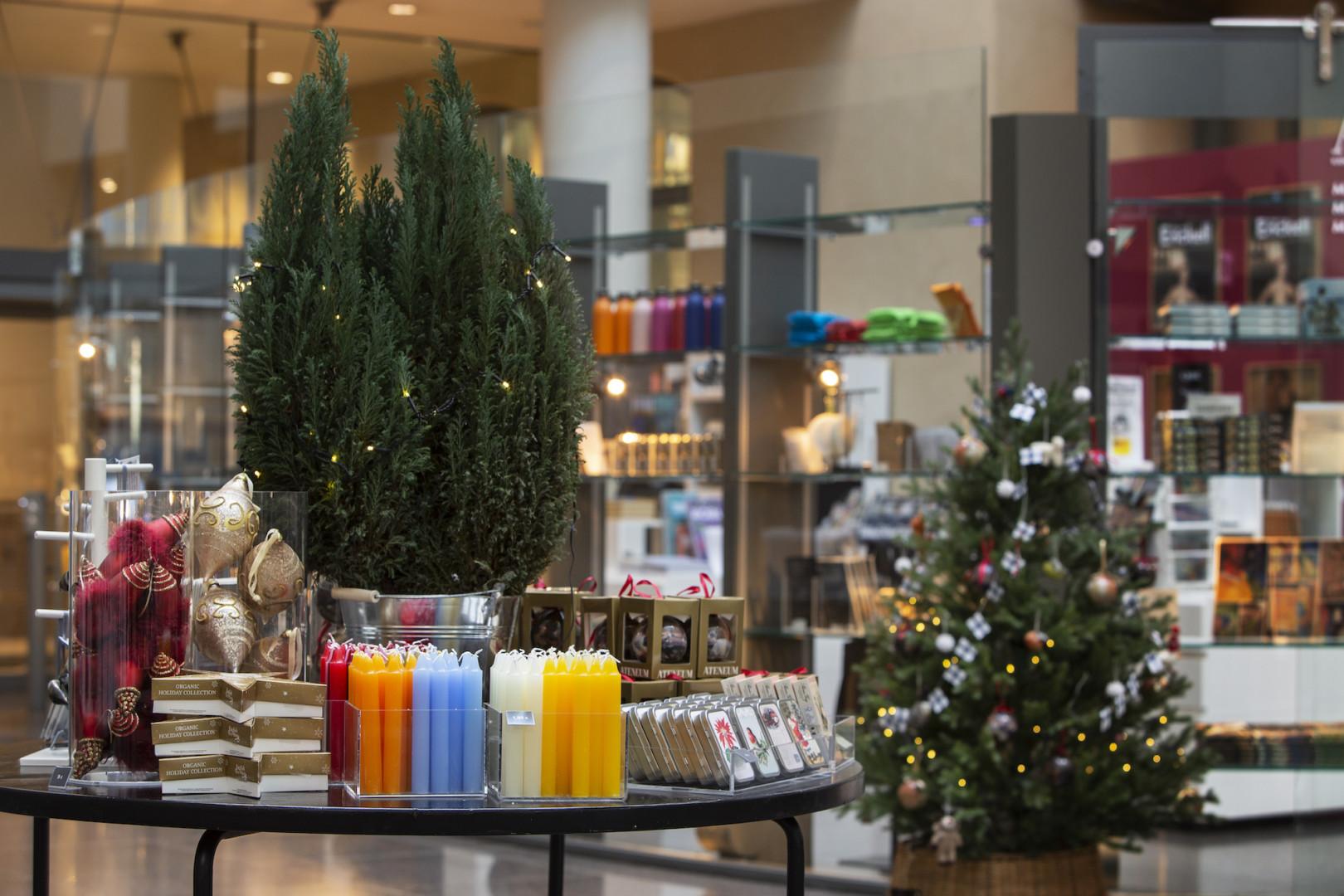 Ateneums museibutik i december 2020.