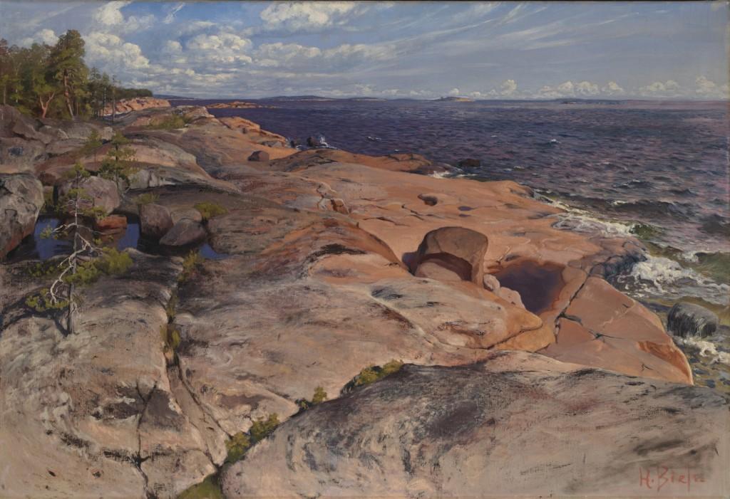 Helmi Biese: Villingin kallioita (1890-luvun loppu). Kansallisgalleria / Ateneumin taidemuseo. Kuva: Kansallisgalleria / Jenni Nurminen.