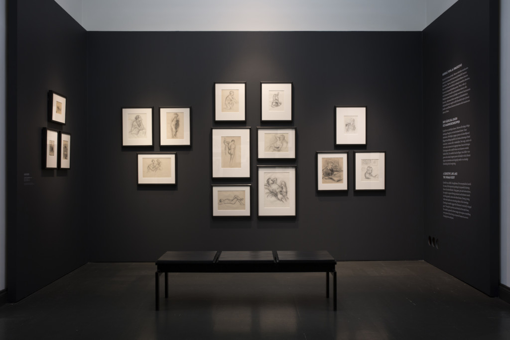 Kuva Magnus Enckell -näyttelystä Ateneumissa.