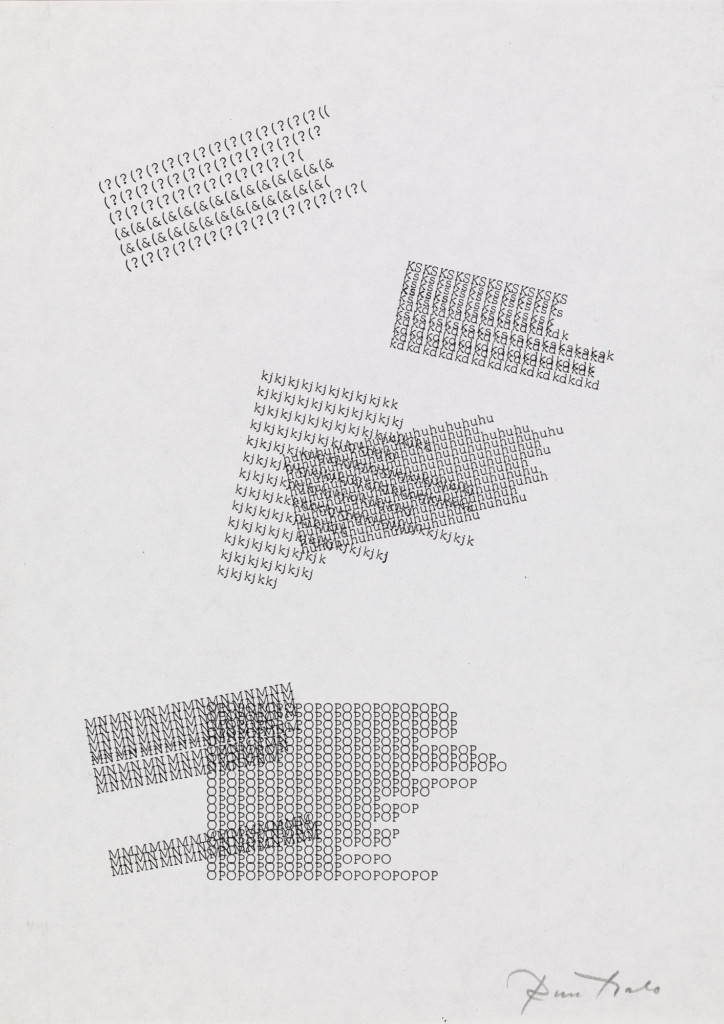 Picture of Eino Ruutsalo's artwork Kinetic Poem from 1967