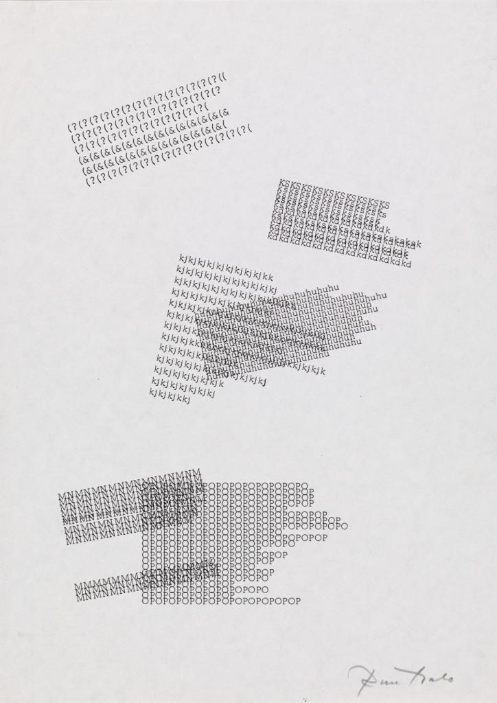 Bild på Eino Ruutsalos konstverk Kinetisk dikt från 1967
