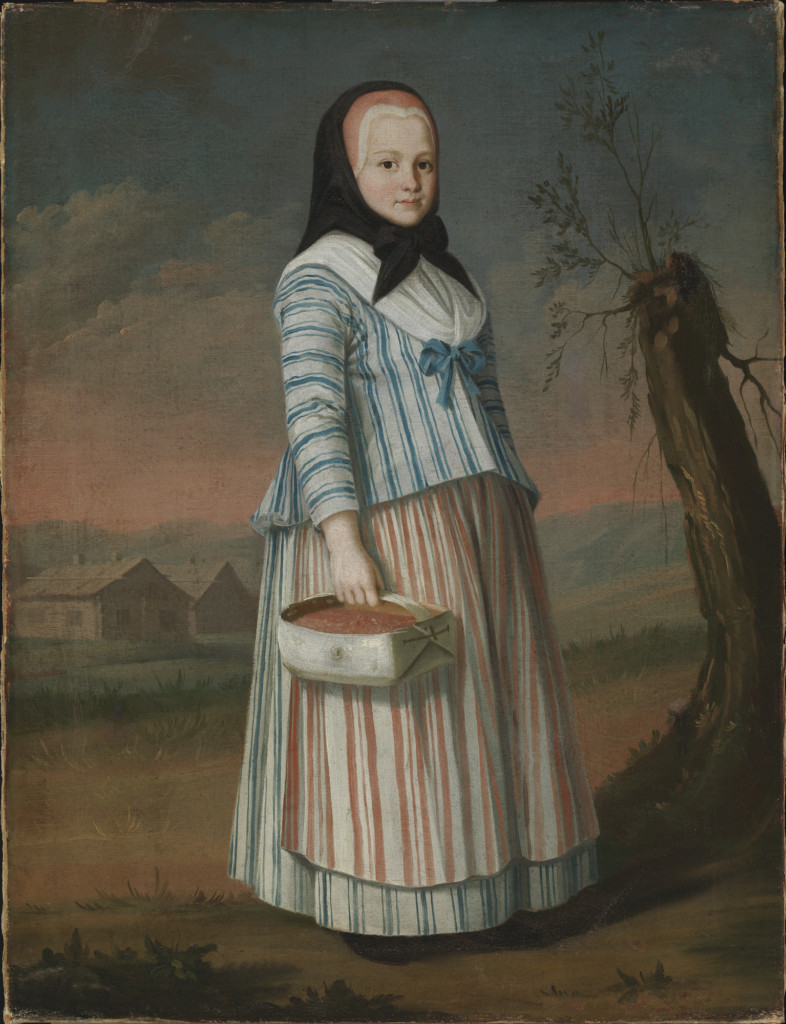 Photo of Nils Schillmark's artwork The Strawberry Girl (1782).